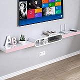 Wandregal Schwimmregal Wandmontiertes TV-Regal TV-Hintergrund Wanddekoration Regal TV-Ständer Multimedia-Speicherregal Weiß (Farbe : A)