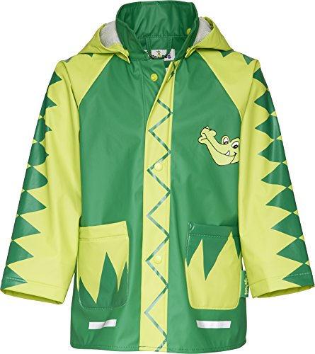 Playshoes Baby - Jungen Babybekleidung/ Regenbekleidung, Tierdruck Regen-Mantel Krokodil 408582, Gr. 86, Grün (900 original)