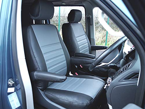 Van Demon Tailored Fit Black & Grey Leatherette Driver for sale  Delivered anywhere in UK