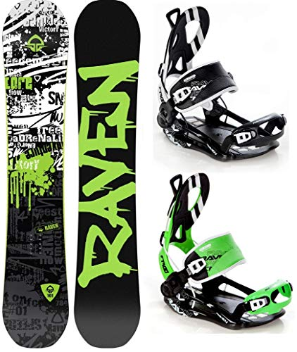 Raven Snowboard Core Limited 2019 + Bindung Fastec FT400 (163cm Wide + FT400 Green XL) -