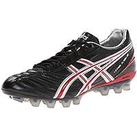 ASICS Men's Lethal Flash DS IT Soccer Shoe,Black/Fire Red/White,10.5 M US