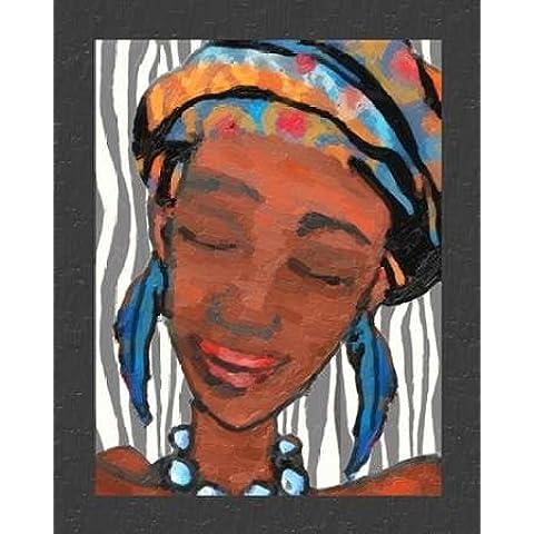 Feeling at home, Stampa artistica x cornice - quadro, fine art print, Ebony Beauty I cm 102x81