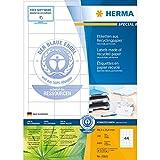 Herma 10821 Etiketten (A4 Recycling Papier matt mit Blauem Engel-Zertifikat, 48,3 x 25,4 mm) 4400 Stück naturweiß