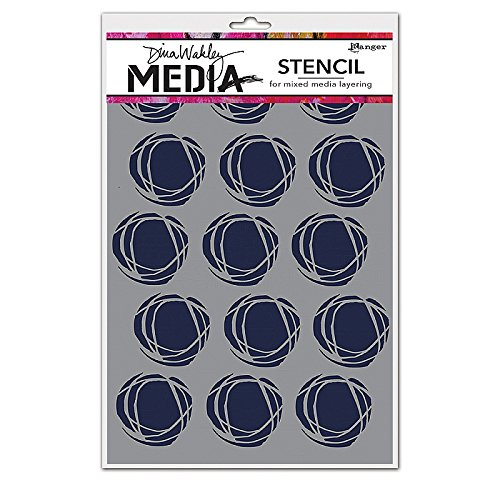 ranger-mds52425-dina-wakley-media-stencils-multi-colour-9-x-6-inch