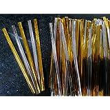 100 x Silver & Gold Metalic Ties/Twists 8cm long