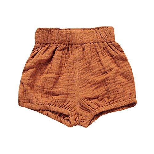 JERFER Säugling Kleinkind Kinder Unterwäsche Nettes Baby Mädchen Jungen Dot Geometrische Shorts Hosen Leggings 6M-5T (Khaki, 12M)