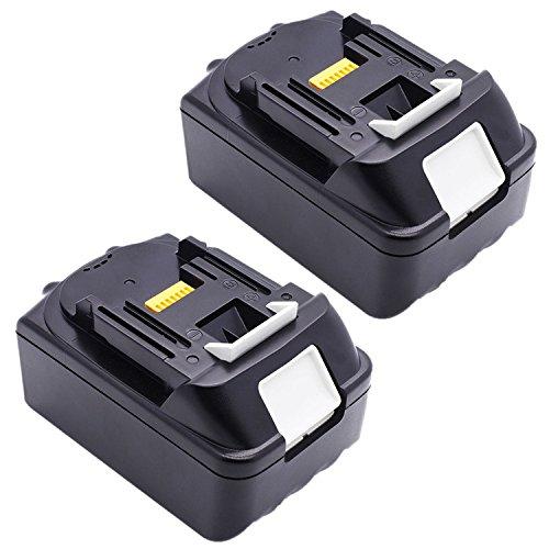 Preisvergleich Produktbild 2X 18V 3,0Ah Li-Ion Werkzeugakku Batterie für Akkuschrauber Makita BL1830 BL1815 194204-5 LXT400 (LG Zelle)
