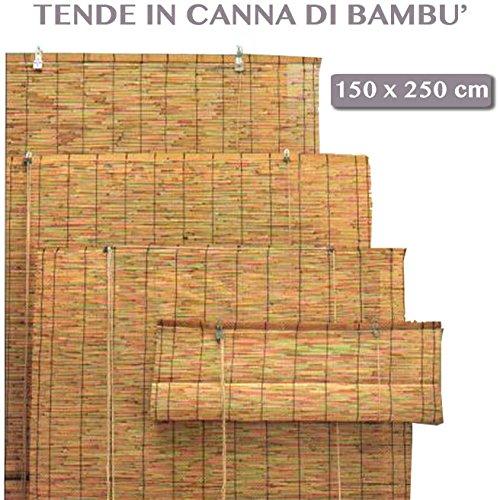 Arella Bamboo mit Seilzug-Outdoor Garten Markisen-Möbel Außen 150x 250cm