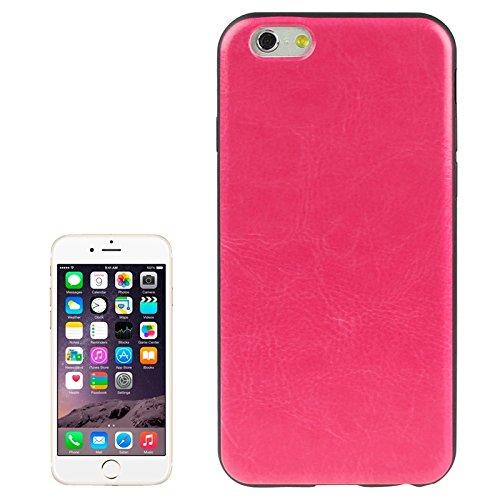 Phone case & Hülle Für IPhone 6 & 6S, Crazy Horse Texture Leder Skinning Silikon Hülle ( Color : Pink ) Magenta