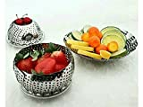 Rituraj Fruit Or Vegitable Collapsible Basket Or Vegitable Steamer Or Water Drainer Or Multipurpose fruit Basket Stainless Steel