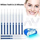 Teeth Whitening Kit, Tooth Whitening Gel Kit Set Professional LED Accelerator Light