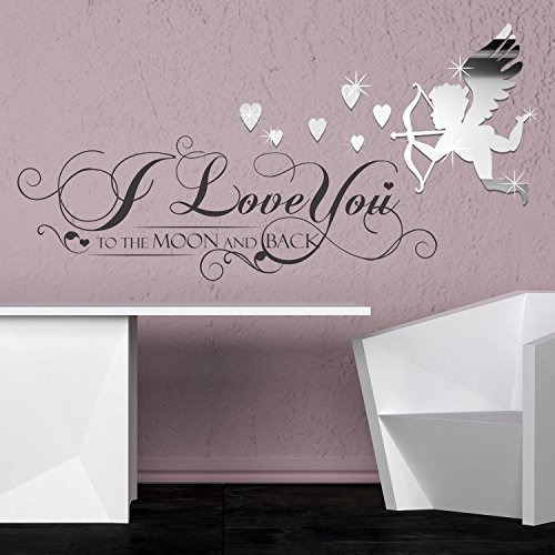 """""""I Love You Love Art cupido specchio amore Home Salon camera, matrimoni, feste discoteca Casa caffè ristorante dell"""