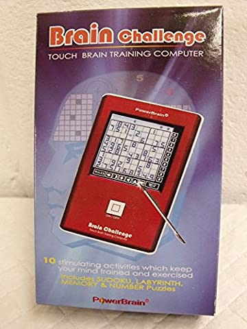 Travel Electronic Touch Screen Brain Challenge Game with 10 Games