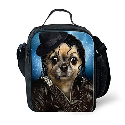 Showudesigns carino stampa animale borsa porta pranzo per bambini con tracolla, color 7, small color 14