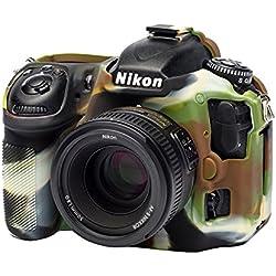 EASYCOVER by Bilora Coque de Protection en Silicone pour Nikon D500Camouflage/Noir