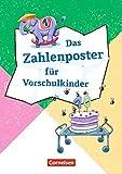 Lernposter für die Vorschule / Das Zahlenposter für Vorschulkinder: Zum Zählen, Zahlenschreiben und Mengenerfassen. Poster