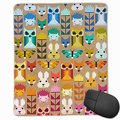 Elizabeth Hartman Fancy Forest Quilt Kit Kona Rectangle Non-Slip Rubber Mouse Pad with Stitched Edges (Für Quilt Elizabeth)