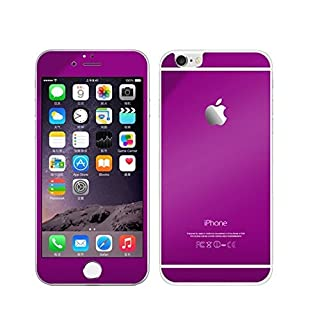 AcenX Extra Mirror Bright Plated Film Premium Tempered Protective Mirror Effect Glass Film Screen Protector for iPhone 6 Screen Protector Skin(Purple)