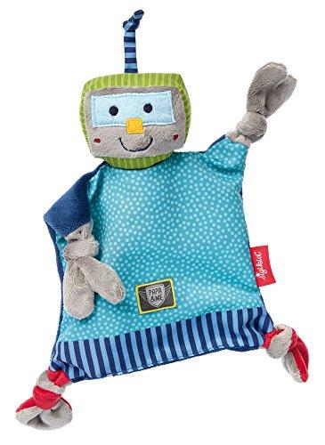 Sigikid, Mädchen und Jungen, Schnuffeltuch Roboter, Papa und Me, Mehrfarbig, 41674