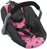 Bayer Chic 2000 708 83 Puppen-Autositz, Puppentrage, Sternchen grau, Pink