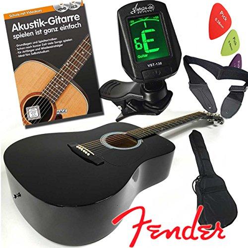 fender-squier-akustik-westerngitarre-set-in-dreadnought-form-farbe-schwarz-mit-lehrbuch-mit-cd-und-d