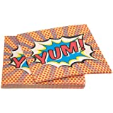 Ginger Ray Paper Napkins - Pop Art Superhero Decorations