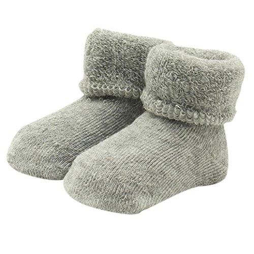 Weiche Baby Socken (Bodhi2000 Baby Kleinkinder Winter Socken Warm halten Weiche Baumwollstiefel Socken Dick 0-12 Monate)