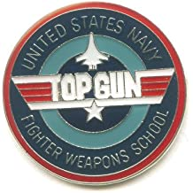 TOP GUN United States Navy Emblem Metall Button Pin Pins Nadel Anstecker 419