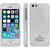 Greenery White Ultra Slim 2600mAH Backup External Charger Case Power Case For Iphone 5 5S 5C Externed Protective iPhone 5 5S 5C Battery Case / iPhone 5 5s 5c Battery Case