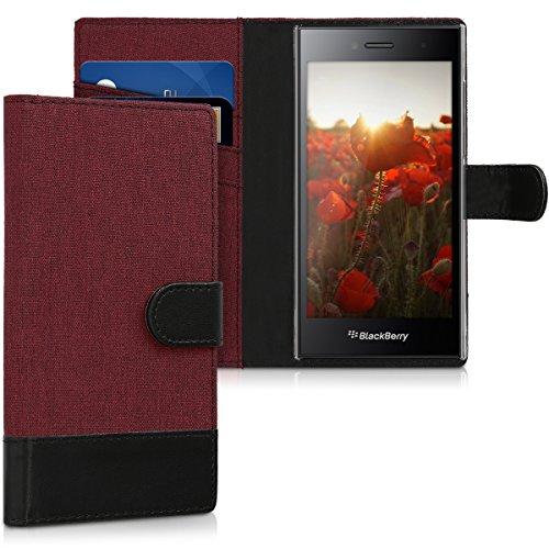 kwmobile BlackBerry Leap Hülle - Kunstleder Wallet Case für BlackBerry Leap mit Kartenfächern und Stand