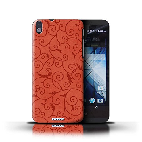 Kobalt® Imprimé Etui / Coque pour HTC Desire 816 / Rose conception / Série Motif de la vigne Rouge
