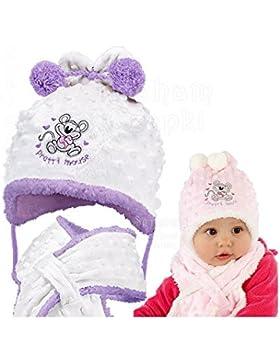 Baby Girl &-Set invernale di sciarpa da bambina, 3-24 mths, motivo Topolino