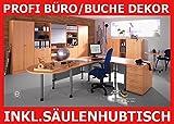 Profi Komplett System- Büro Büroeinrichtung Büromöbel Schreibtisch Aktenschrank