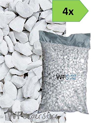 Graniglia di marmo Bianco Carrara 9/12mm - 4 sacchi da 25 kg - sassi pietre giardino