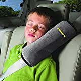 CYBERNOVA Car Vehicle Seat Belt Harness Shoulder Pad Cover Cushion Head Support for Kids Baby (gray)