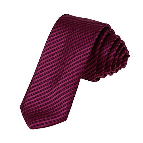 DAE2024 Mittleres violettes rotes schwarzes feines d¨¹nnes Krawatte Zusammenpassende Geschenk-Kasten-Satz-Streifen billige d¨¹nne Bindung ST durch Dan Smith