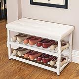 RMJAI Schuhregale Schuhbank Schuhschrank Schuhhalter Weiß 丨 Schwarz 丨 Pink Schuhschränke (Farbe : Weiß, größe : 70cm)