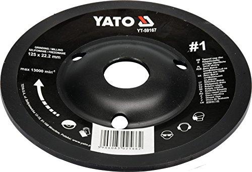 YATO Profi Raspelscheibe für Winkelschleifer Auswahl 115 mm 125 mm Schleifscheibe Holzscheibe Holz Flex Holzkunst (125 mm Nr 1 schräg)