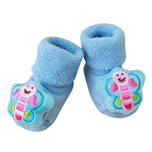 FNKDOR Kuscheltier Babysocken, 0-1 Jahr Baby Baumwolle Elastizität Born Schuhe Söckchen (J)