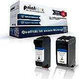 Print-Klex 2x kompatible Tintenpatronen für HP OfficeJet V40 OfficeJet V40XI OfficeJet V45 PSC 700Series PSC 720 PSC 750 PSC 750CXI PSC 750SE PSC 750XI PSC 760 15 + 78 Black Color Sparset (Alle Farben) C6615DE C6615NE