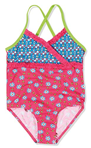 Playshoes Mädchen Einteiler Badeanzug Blumen, UV-Schutz nach Standard 801 und Oeko-Tex Standard 100, Gr. 98 (Herstellergröße: 98/104), Mehrfarbig (original 900)