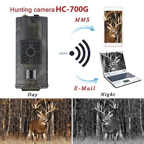 Gfyee Wildkamera Mit Bewegungsmelder Nachtsicht HandyüBertragung 3G 16MP 1080P Full HD Fotofalle GSM Jagdkamera 120 ° Weitwinkelobjektiv 48 IR LED IP56 Wasserdicht für Sicherheitsüberwachung