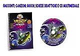 Audioracconto per bambini Libro + CD con canzoni e traccia multimediale Orazio L'Amico Dello Spazio, canzoni, giochi e schede didattiche