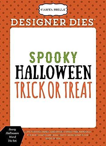 Carta Bella Paper Company CBHA56042 Scary Halloween Word Die