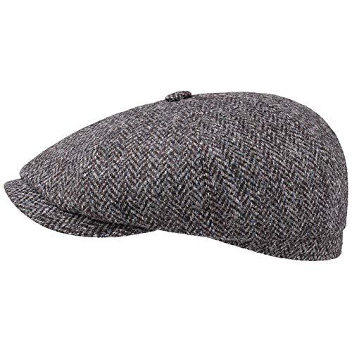 Stetson Hatteras Harris Tweed Newsy Cap Ballonmütze Flatcap Schirmmütze...