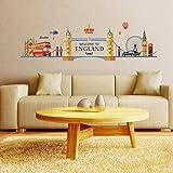 GOUZI Kreative Persönlichkeit Aufbau Innovativer PVC-Tower Bridge City 120*80cm Wall Sticker Abnehmbare Wall Sticker für Schlafzimmer Wohnzimmer Hintergrund Wand Bad Studie Friseur