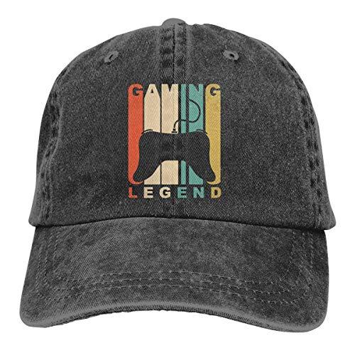 Hoswee Unisex Kappe/Baseballkappe, Gaming Legend Men/Women Washed Adjustable Baseball Cap Jeans Back Closure Plain Caps