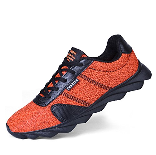 Escalade Chaussures Hommes Randonnée Chaussures De Course Trekking Anti-dérapant Air Tech Amortissante Fitness Gym Sport Chaussures De Sport Orange