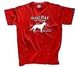 Qualitaet made in Germany - Deutscher Schaeferhund T-Shirt Rot L