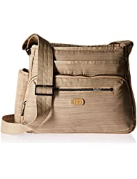 Lug Shimmy Cross Body Bag, Brushed Gold Cross Body Bag